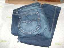 $64 DUNNES STORES ST.BERNARD 38/29 18R STRAIGHT LEG jeans Med WASH PRO CLEANED