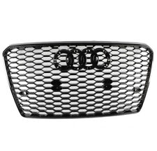 Front Rs7 Style Mesh Bumper Hood Hex Grille Black For 2012-2015 Audi A7/S7 C7 (Fits: Audi)