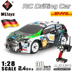 WLtoys 1:28 2.4G 4WD 30km/h RC Auto Rennwagen Elektro Ferngesteuertes Drift Car