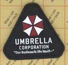 PVC 3D Black UMBRELLA CORPORATION Morale Patch Tactical Movie Military Rubber 30