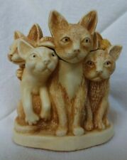 Harmony Kingdom Fur Ball Cats Uk Made Marble Resin Box Figurine Mini Trinket