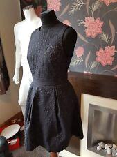 Jack Wills Tickton Star Jacquard Dress Black Size UK 12  NEW RRP £159 FREE UK PP