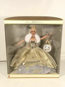 Celebration Barbie Special 2000 Edition New Years Gown Glitter Ornament Display