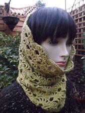 Lime Verde Pizzo Crochet basso di lenza/cappuccio/Sciarpa Morbido Cotone Angora-handmade
