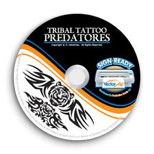 TRIBAL TATTOO PREDATOR CLIPART -FLAMES VECTOR CLIP ART -VINYL CUTTER PLOTTER CD