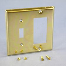Creative Accents Polished Brass Switch GFCI GFI Cover Decorator Wallplate 9BS126