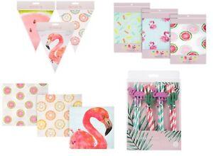 Birthday Party Range Flamingo Watermelon Donut Tableware & Decorations