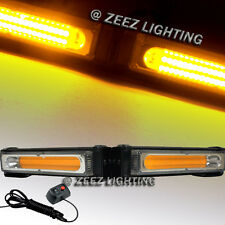 COB LED 20W Yellow Emergency Hazard Strobe Beacon Caution Warning Light Bar C97