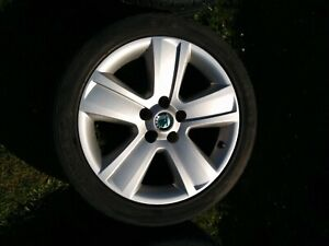 Skoda Superb alloy wheels x 4 with tyres (will also fit Audi, Seat and VW etc.)