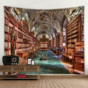 3D Abstract Library Book Background Tapestry Scene Layout Hanging Cloth