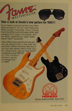 1985 Fame Mastercaster electric guitar and bass by Hondo print ad