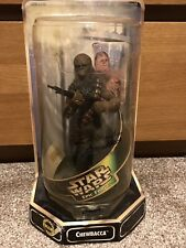 More details for star wars epic force chewbacca figure signed by peter mayhew see description