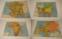 PUZZLES ANCIENS - GÉOGRAPHIE - FRANCE - EUROPE - AFRIQUE - ASIE - COMPLET - 1960