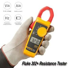 Fluke 302+ Digital Automatic Resistance Tester HD Current Clamp Meter Multimeter