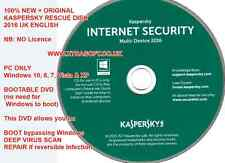 Kaspersky Internet Security 2016 GENUINE Installation + Rescue DVD NO Licence UK