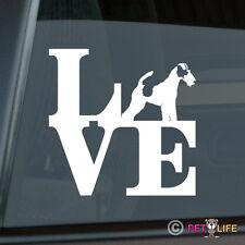 Love Fox Terrier Sticker Die Cut Vinyl - park smooth wire