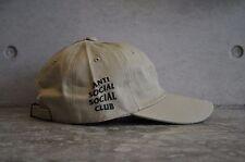 """CLUB anti social social """"strano"""" Cap-Khaki/Nero"""