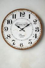 Clayre & Eef Wanduhr Paris Uhr Clock Shabby Chic Vintage Landhaus