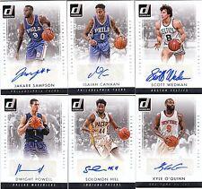 15/16 2015/16 Donruss Signature Series Auto Solomon Hill #51 Pacers