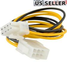 "8"" 8-pin 12V Power Extension Cable Male to Female EPS P4 ATX Motherboard CPU"
