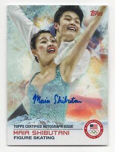 2014 Topps USA Olympic Team Autograph #75 Maia Shibutani Figure Skating