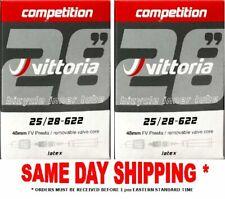 Vittoria latex tubes 700 x 25/28 48mm (RVC) stem 2 tubes per order