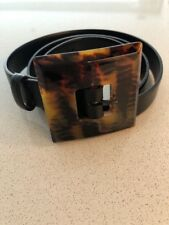 Woman's JAEGER Black Leather Belt In Size L