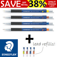 NEW Staedtler 775 Mechanical Pencil Pacer Mars 0.3 0.5 0.7 0.9mm + Lead Refill
