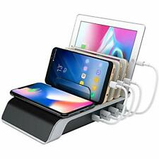 Wireless Charge Station Multiple Devices Smart Dock Organizer Smartphones Phone