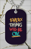 I AM POSITIVE DOG TAG NECKLACE PENDANT FREE CHAIN -ert5Z