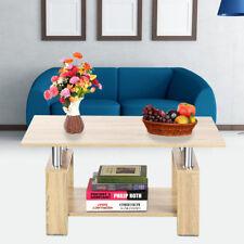 Couchtisch Beistelltisch Wohnzimmertisch mit Ablage Sofatisch Kaffe PC Tisch Su1
