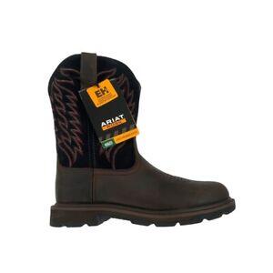 Ariat Groundbreaker Steel Toe Pull-On Work Boot size 8 EE WIDE NWT