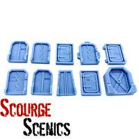 Resin 28mm Sci Fi Doors Pack Set 2 Greebles Scenery D & D - Scourge Scenics