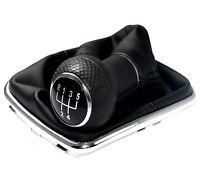 Schaltsack + Schaltknauf + Chrom Rahmen passend für VW Golf 4 IV VW Bora (12mm)