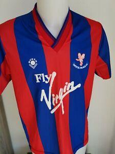 superbe maillot  de football crystal palace BUKTA 1989/1990 TAILLE 38/40 vintage
