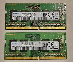8GB kit (2x 4GB) Samsung M471A5244CB0-CRC DDR4-2400 / PC4-19200 SO-DIMM TESTED