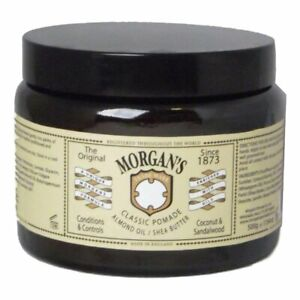 500g Classic Pomade Care Almond Oil Shea Butter Oil Based MORGAN'S England