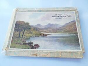 VINTAGE ACADEMY SERIES WOODEN JIGSAW BOXED LAKE AND HILLS