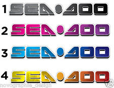 "!SEADOO // 30"" X 4""//JETSKI HULL SIDE DECAL STICKER SET GTX DI GTI GSX RXP RTX"