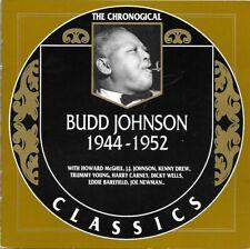 BUDD JOHNSON 1944-52 CLASSICS CD NEW SEALED LONG OUT OF PRINT