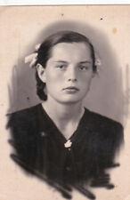 1950s Beautiful teen girl schoolgirl fashion old Soviet Russian photo