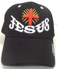 RELIGIOUS BALL CAP  NEW  JESUS WITH CROSS BLACK STYLE #2 HAT CHRISTIAN