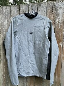 Patagonia Rubber & Nylon Long Sleeve Wet Suit Top Large Gray USA