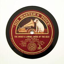 """FRANK CRUMIT """"The Bride's Lament (Song Of The Sea)"""" (E++) HMV B-2921 [78 RPM]"""