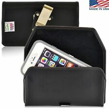 Turtleback iPhone 6 PLUS Leather Pouch Holster Metal Clip Fits OtterBox Case