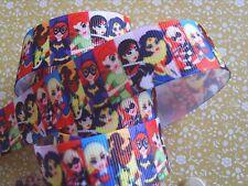1M x DC Super Hero Girls Super Girls GROSGRAIN RIBBON Craft Hair Bows 22MM  *UK*