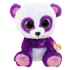 "Ty Beanie Boos 6"" BOOM BOOM the Panda Stuffed Animal Plush MWMT's w/ Heart Tags"