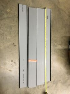 "6- 30"" PCS PANDUIT Lead Free PVC Wire Duct Cover, Flush, Gray, C3LG6"