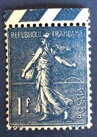 France N° 205 à 1 F Bleu Noir Neuf ** Nuance Et Qualité TTB Cote175€