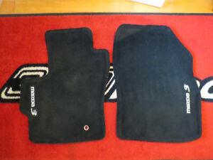 Mazda 3 2004-2009 Factory OEM Front Black Carpeted Floor Mats 0000-8B-L03B-02
